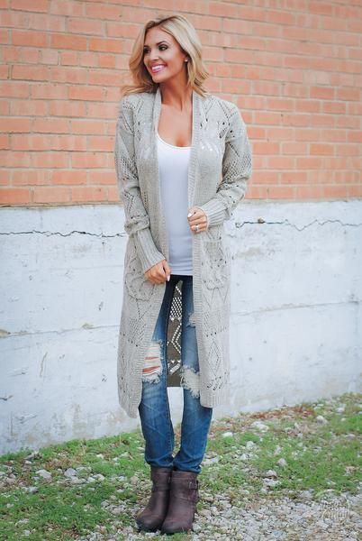 Best Is Yet To Come Duster Cardigan - Oatmeal