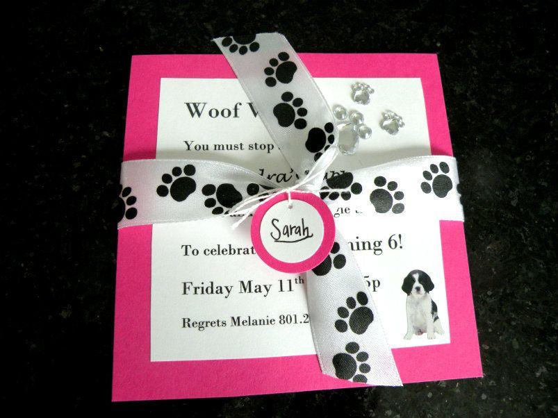 Puppy Birthday Party invitation | Alexandra\'s party ideas ...