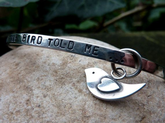 Handmade Silver 'A Little Bird' Bangle by inTheSilverRoom on Etsy