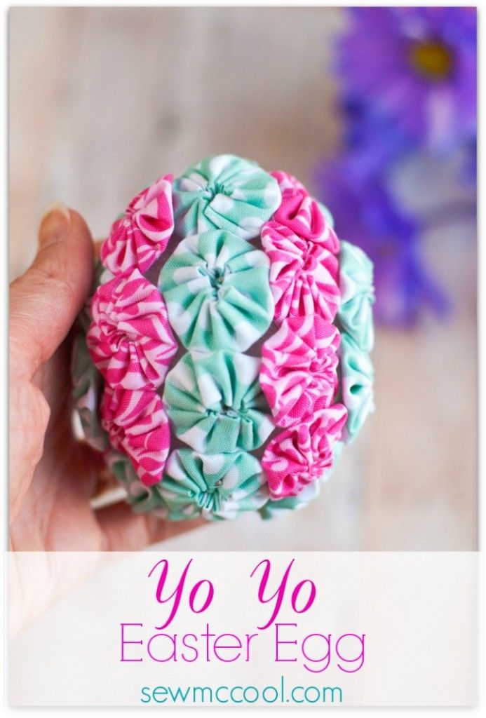 So pretty Love this yo yo embellished Easter egg on