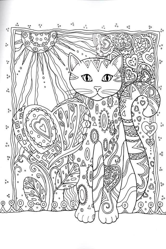 gatos 3 | Animals coloring | Pinterest | Gato, Mandalas y Colorear