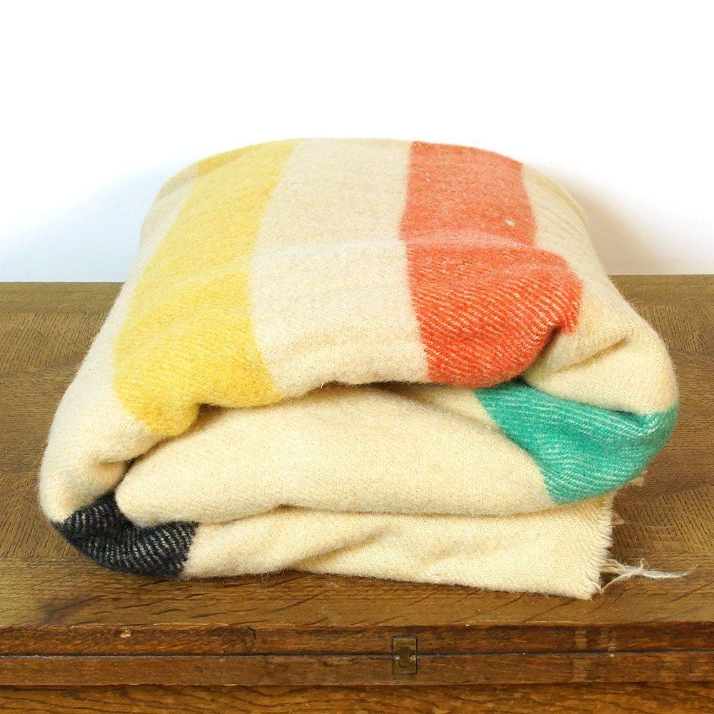 50s Golden Dawn Wool Camp Blanket Vintage Penney S Etsy Camping Blanket King Size Blanket Queen Size Blanket