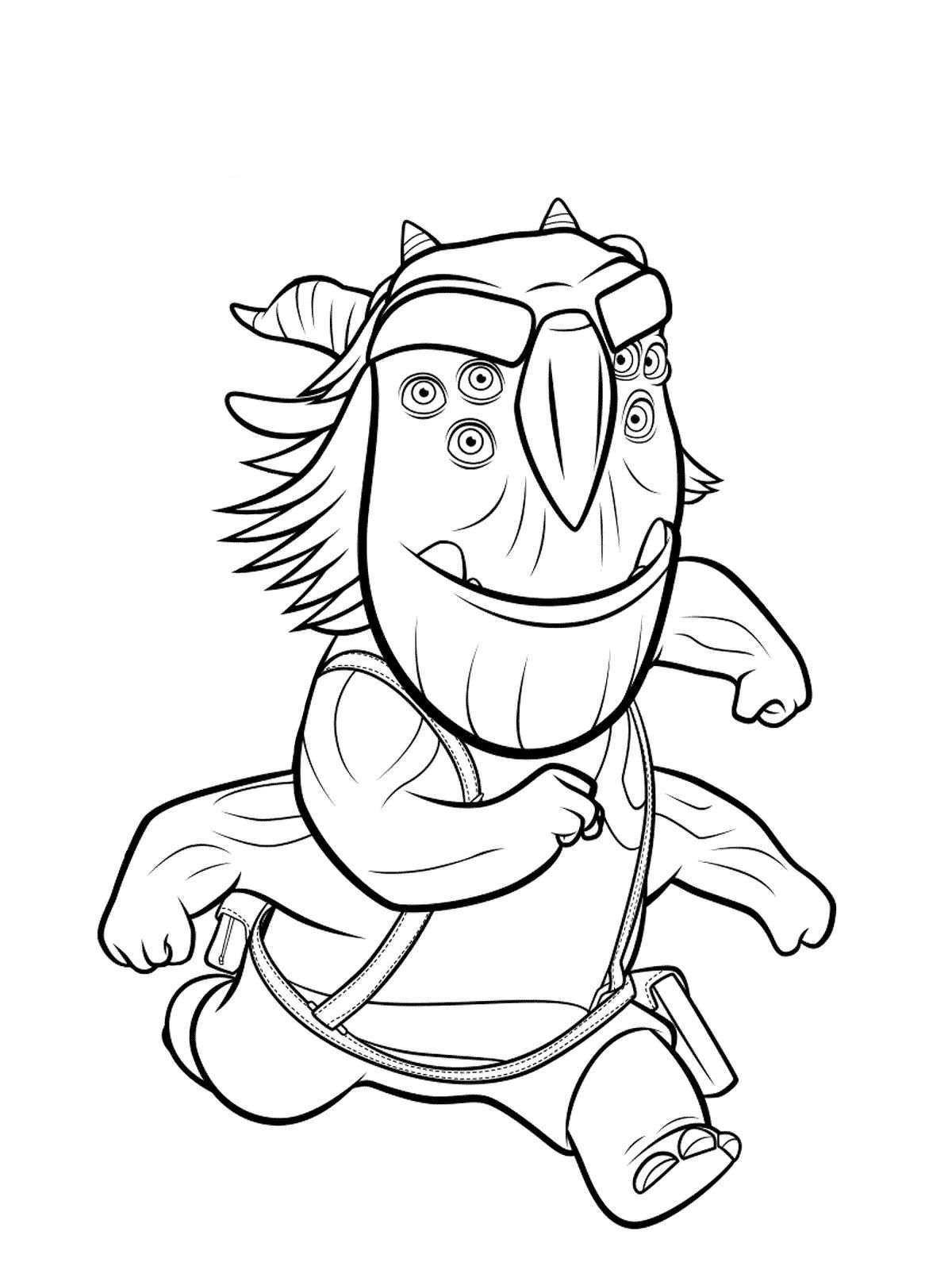 10 coloring pages of Trollhunters on Kids-n-Fun.co.uk. Op