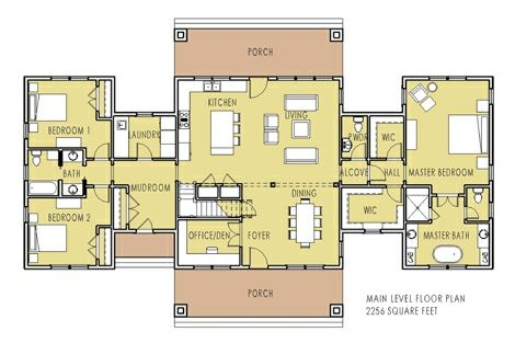 Unique home plan with main floor master pine creek for Main floor master house plans