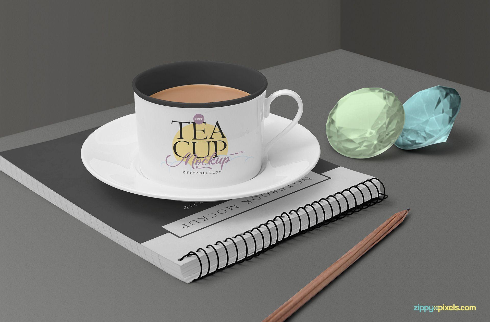Free Tea Cup Mockup Scene Zippypixels Free Tea Tea Cups Psd Templates