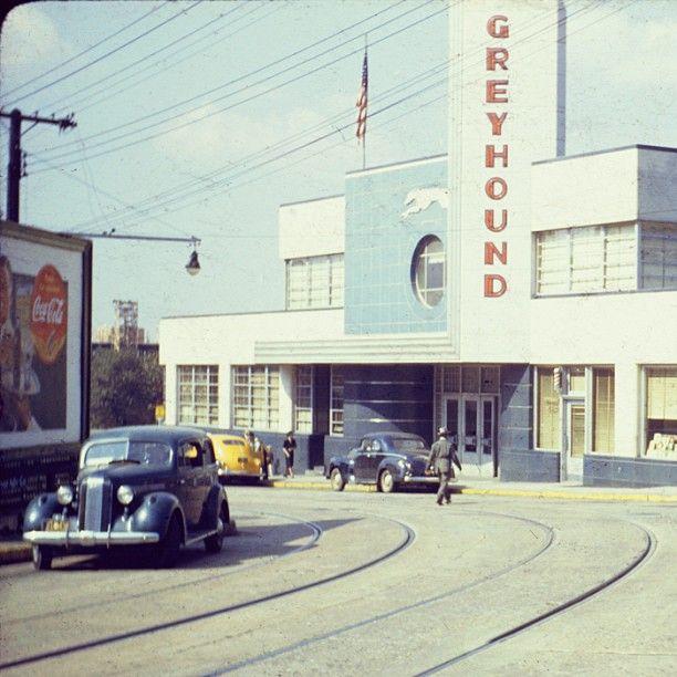 1941 View Of Atlanta's Greyhound Bus Terminal On Cain