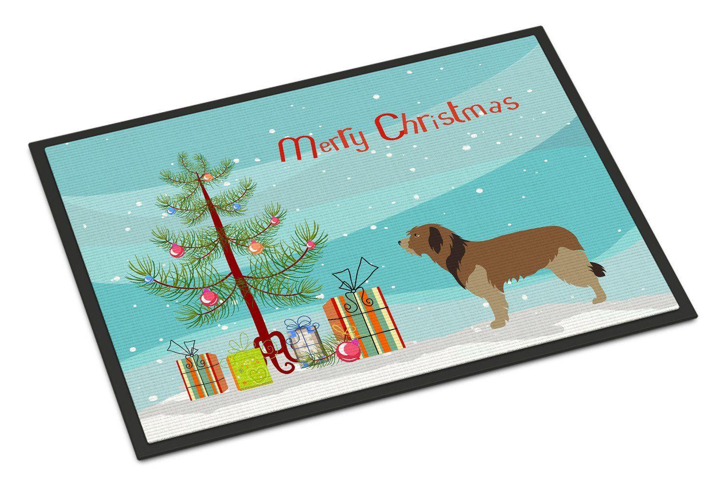 Catalan Sheepdog Christmas Indoor or Outdoor Mat 18x27