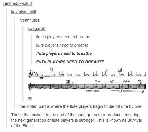 Flute Player Problems. So true... and when you are one of the only two people playing...
