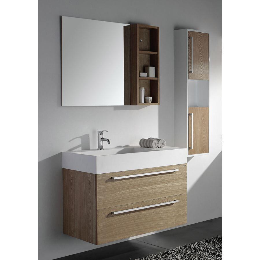 Waschbecken Schrank Cube 2 Schubladen In Eiche Von Wenko Unterschrank Waschbecken Badezimmer