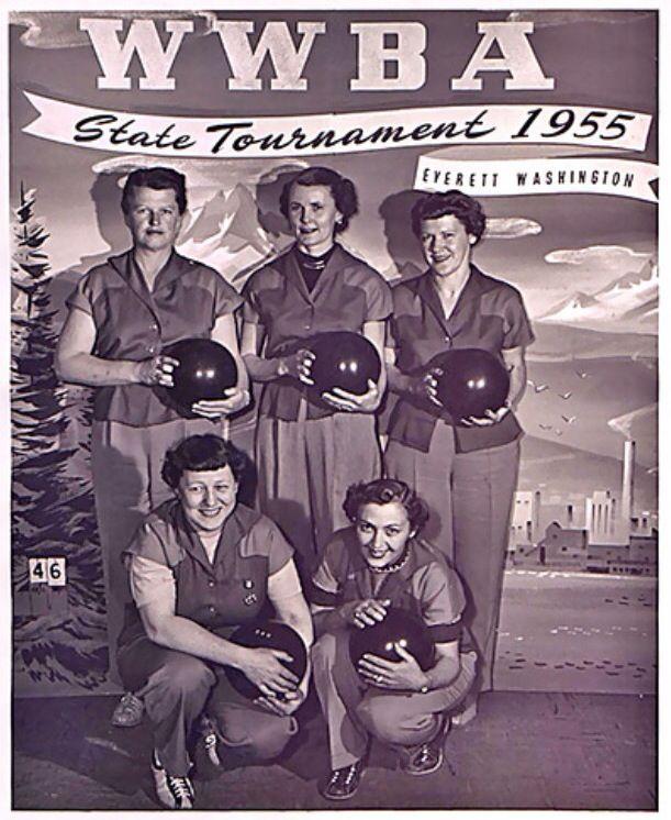 1955 State Bowling Tournament Team Bowling League Bowling Bowling Team