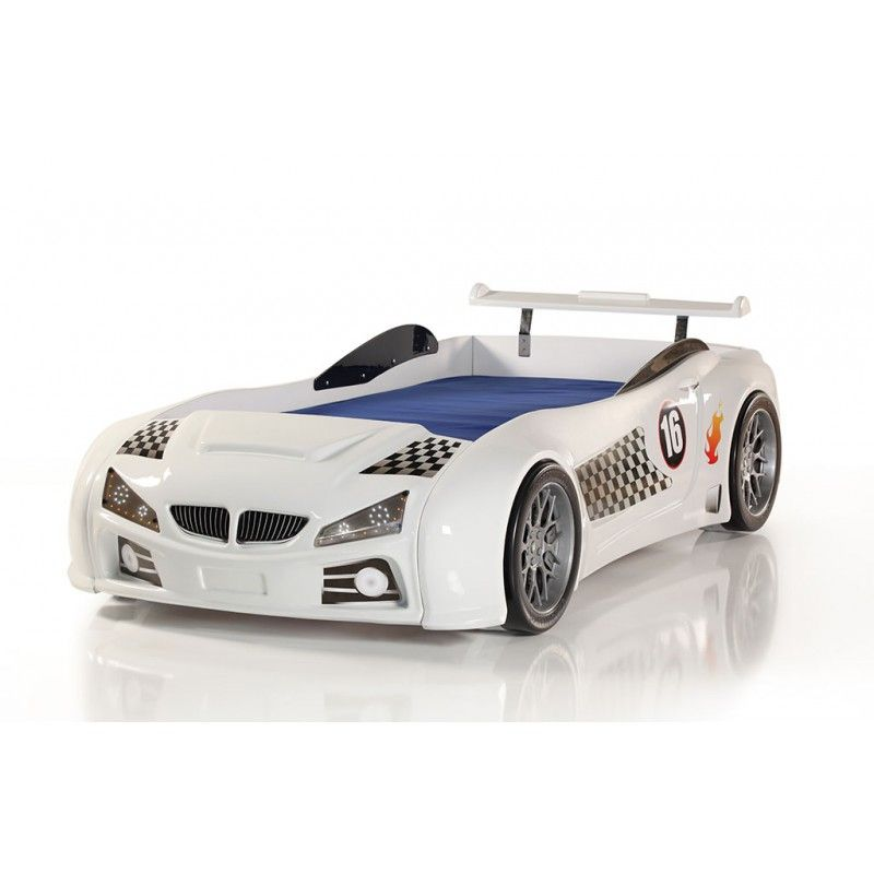 BMW white racecar bed | Race Car Beds | Pinterest