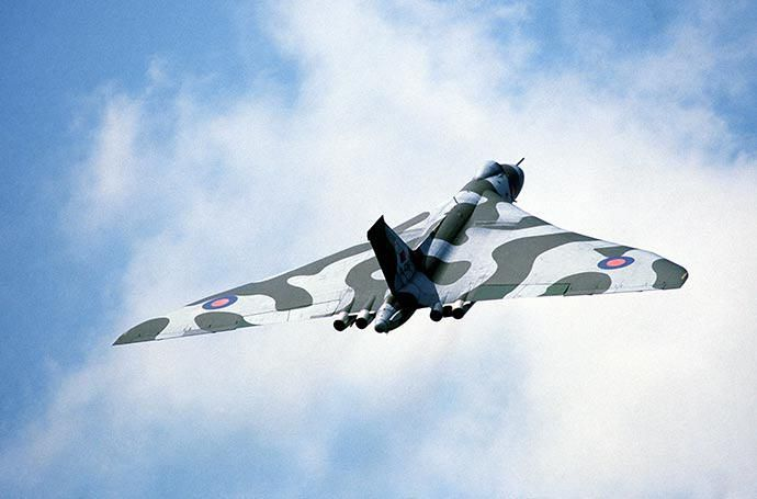 The Avro Vulcan was a strategic bomber operated by the RAF during the Cold War from 1956 - 1984