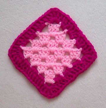 Diagonal granny square with border | Granny Squares | Pinterest
