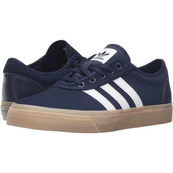 hot sale online 692d6 8333d adidas Skateboarding Adi-Ease (Collegiate NavyWhiteGum4) Mens Skate...  (48) ❤ liked on Polyvore featuring mens fashion, mens shoes, mens  sneakers, ...