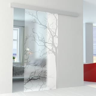 Porta scorrevole con binario esterno Autumn in vetro Kit Alu ...