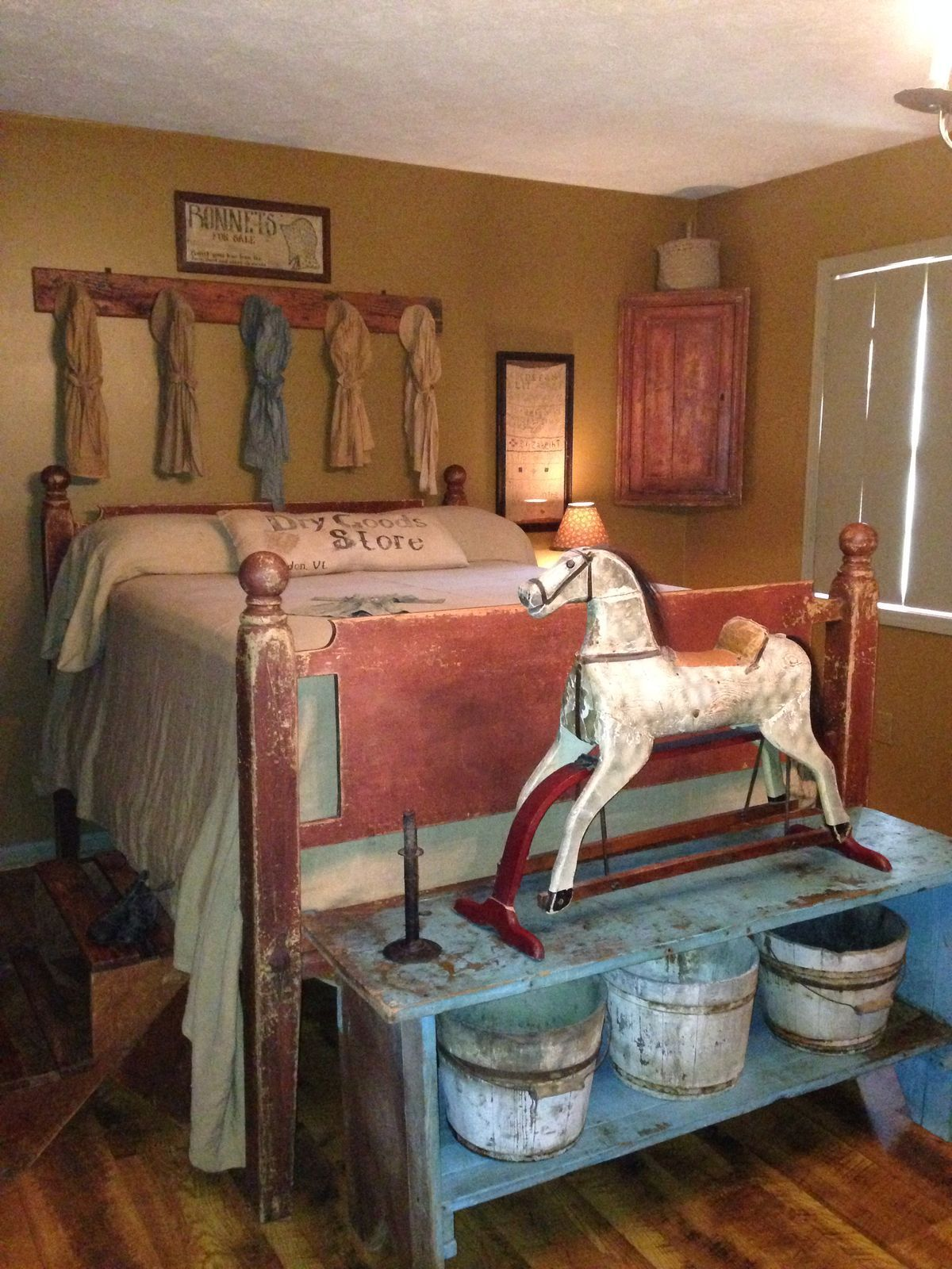 cheap primitive country bedroom decorating ideas | Pin by Pam Mower on primitive crafts in 2019 | Primitive ...