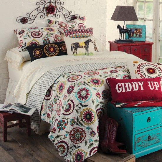Serena Quilted Western Bed Set From Rods Com Stylish Western Home Decorating Western Bedroom Decorwestern Bedroomscowgirl