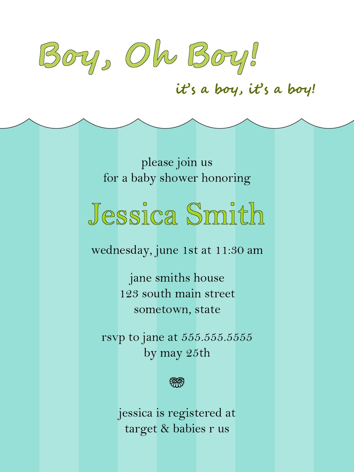 Free Baby Boy Shower Invitations Elegant Invitations Pinterest