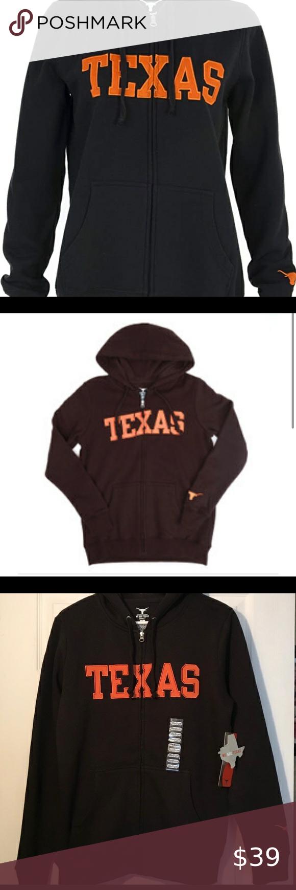 Texas Longhorns Women S Blackblock Full Ziphoodie New With Tags Texas Women S Zip Hoodie M Authentic Apparel T Sweatshirt Tops Carhartt Sweatshirts Knit Hoodie [ 1740 x 580 Pixel ]