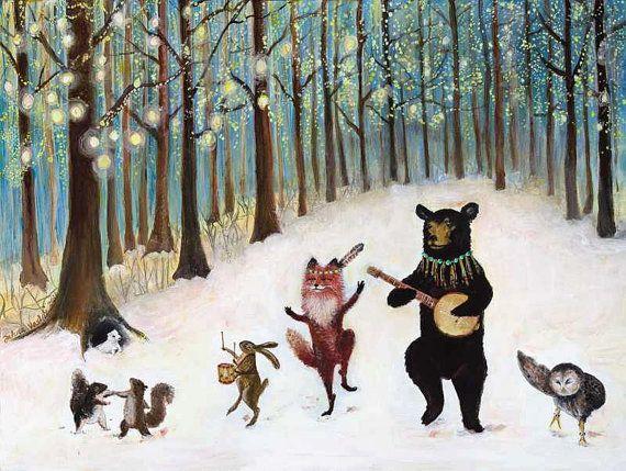 Forest Festivities by Jahnavashti on Etsy.