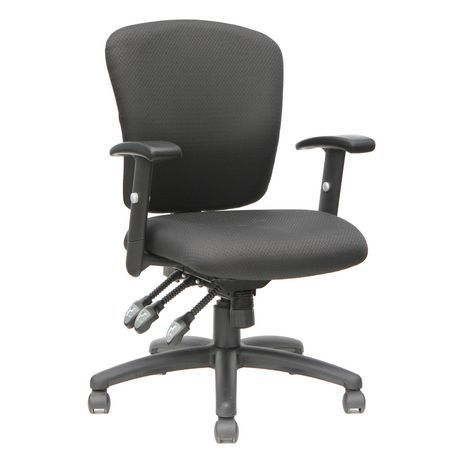 Tygerclaw Mid Back Fabric Office Chair Black Used Office Chairs