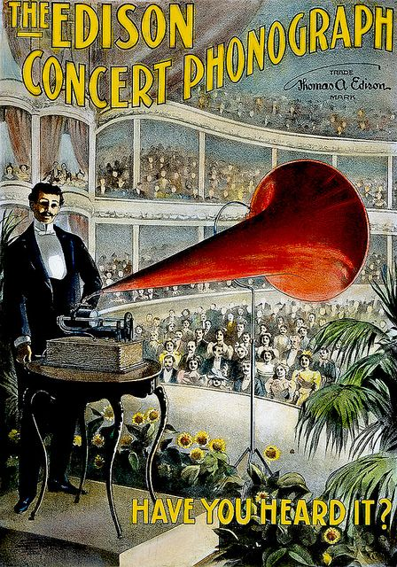 Edison Concert Phonograph, 1899 | Phonograph, Vintage ...