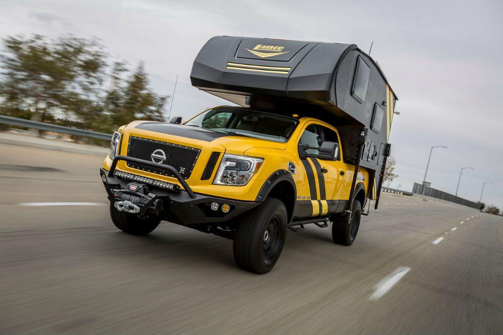 ultimate overland camper is a full custom jaw dropper nissan titan xd diesel trucks trucks pinterest