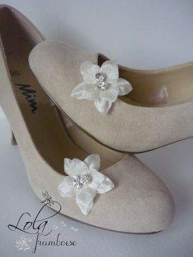 clips à chaussures de mariée, déco de chaussures