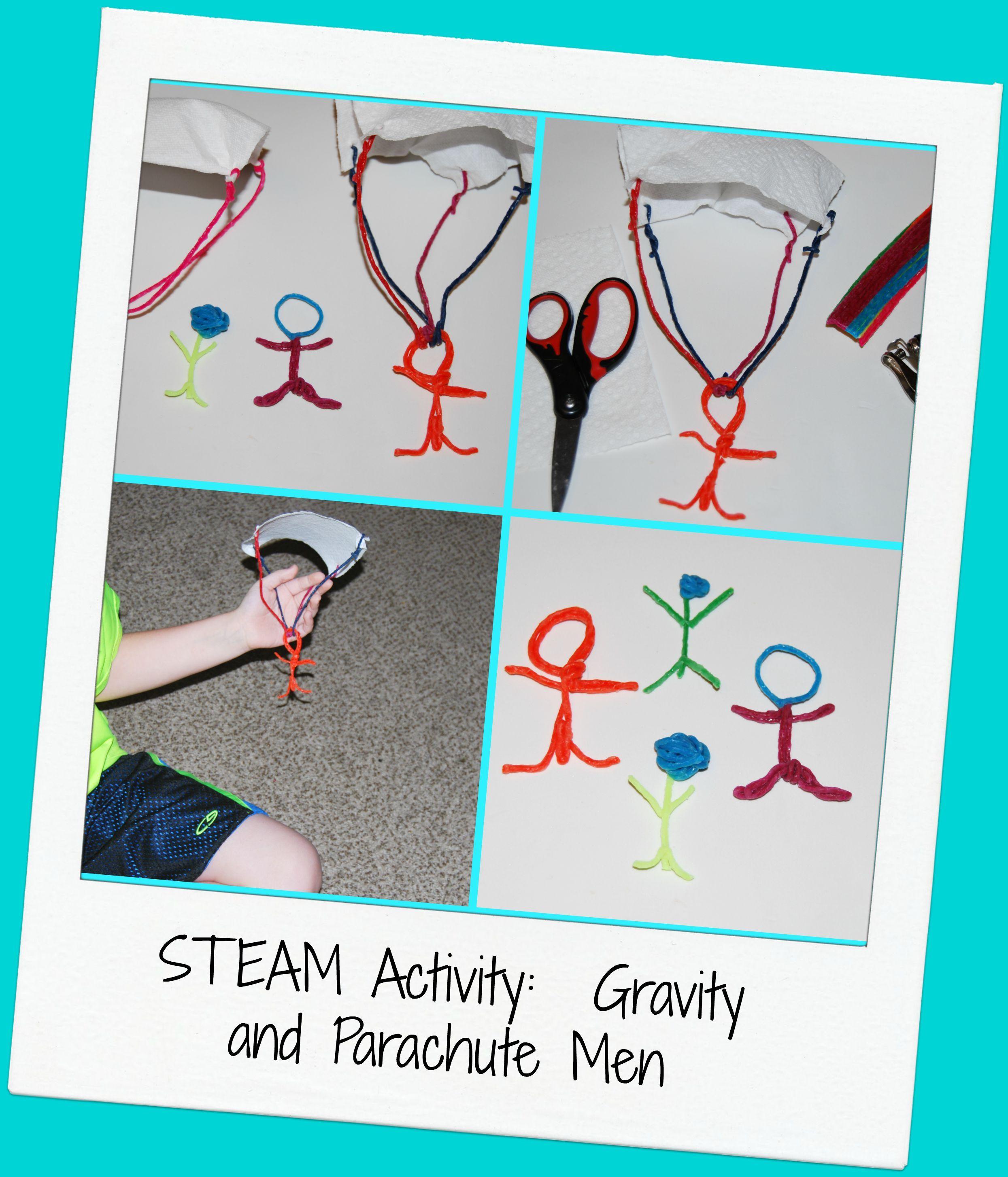 Steam For Kids Wikki Stix Parachute Men Design Challenge