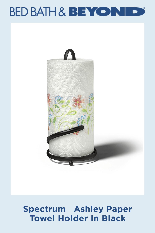 Spectrum   Ashley Paper Towel Holder In Black #papertowelholders