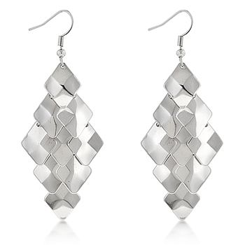 Bella Shaye Jewelry S Layered Diamond Earrings Shine And Flutter As You Wear Them Rhodium 2 5