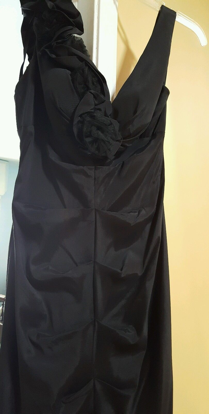 Nice xscape black evening gown wedding prom size mermaid style