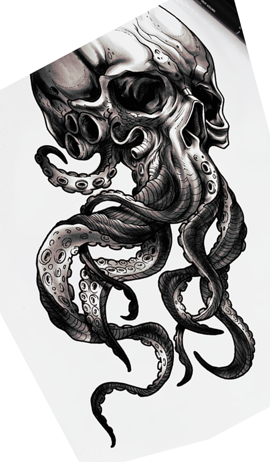 Skull W Tentacles With Images Octopus Tattoo Design Octopus