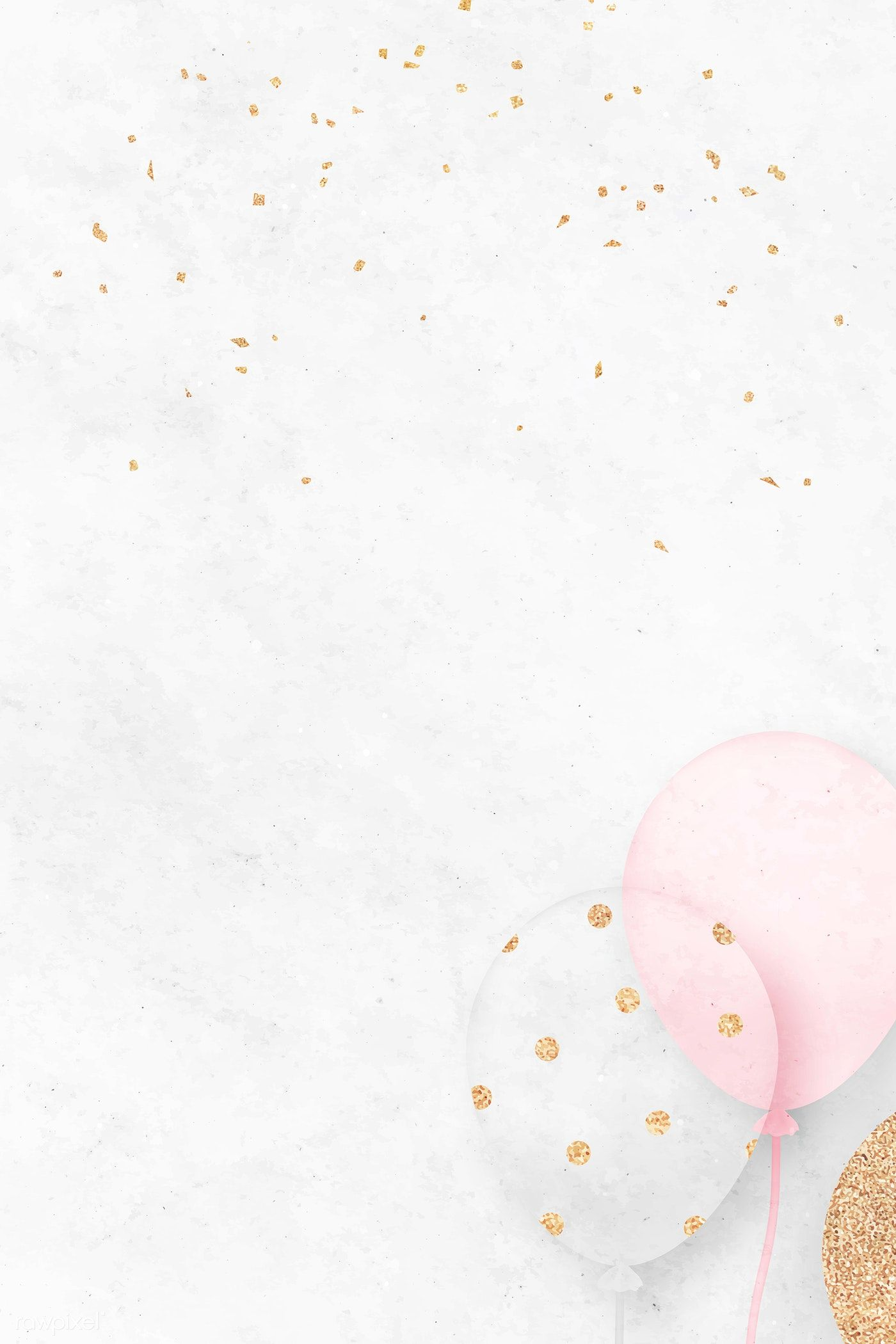 Download Premium Vector Of White Festive Background Template Vector 1219898 Pink Wallpaper Iphone Baby Shower Background Birthday Icon