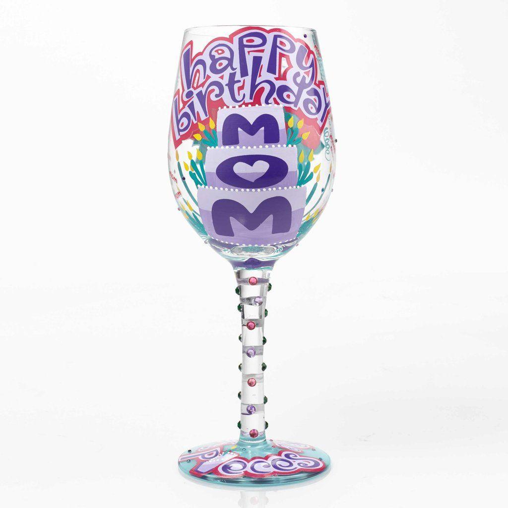 Happy Birthday Mom Wine Glass Mom birthday, Happy