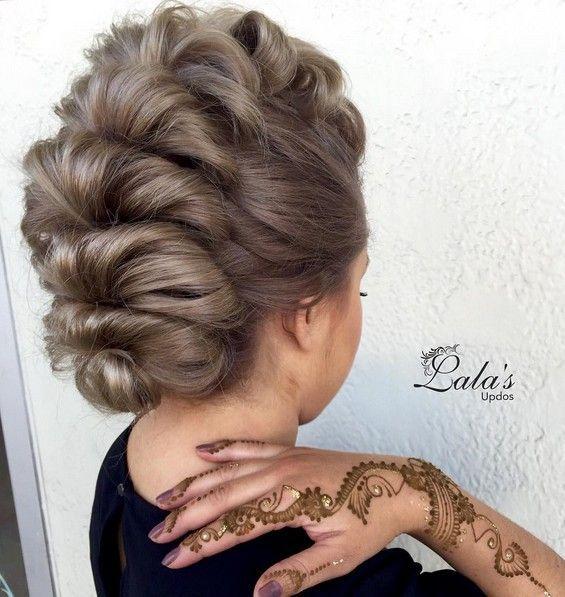 27 Super Trendy Updo Ideas For Medium Length Hair Mohawk Updo
