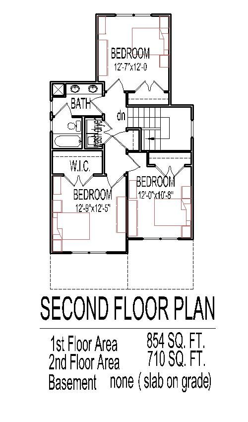 2 Stroy 3 Bedoom House Plans Low Budget House Narrow Lot House Plans House Floor Plans
