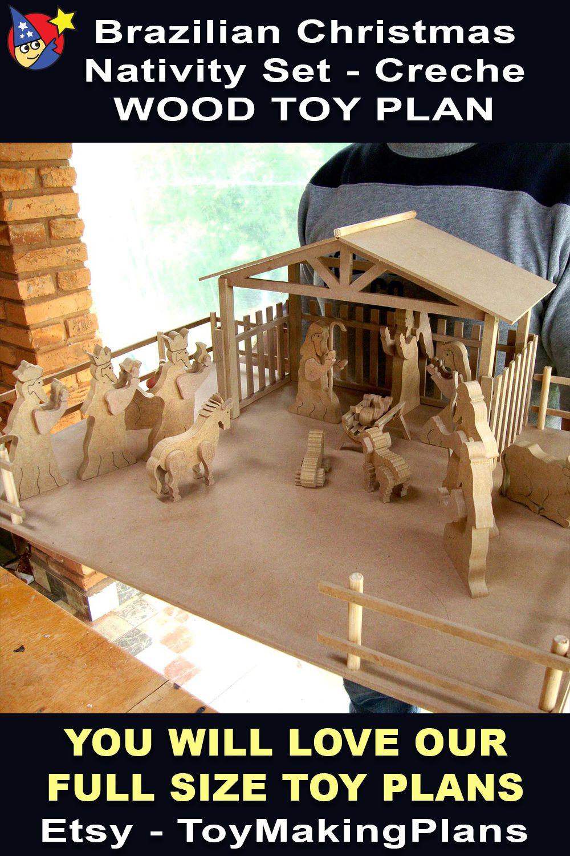 Brazilian Christmas Nativity Wood Toy Plans & Patterns PDF
