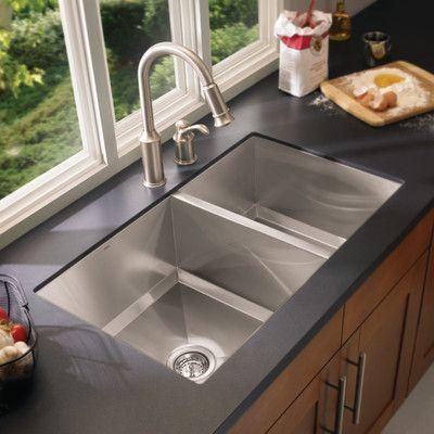 Moen 1600 Series Double Bowl Kitchen Sink Best Kitchen Sinks