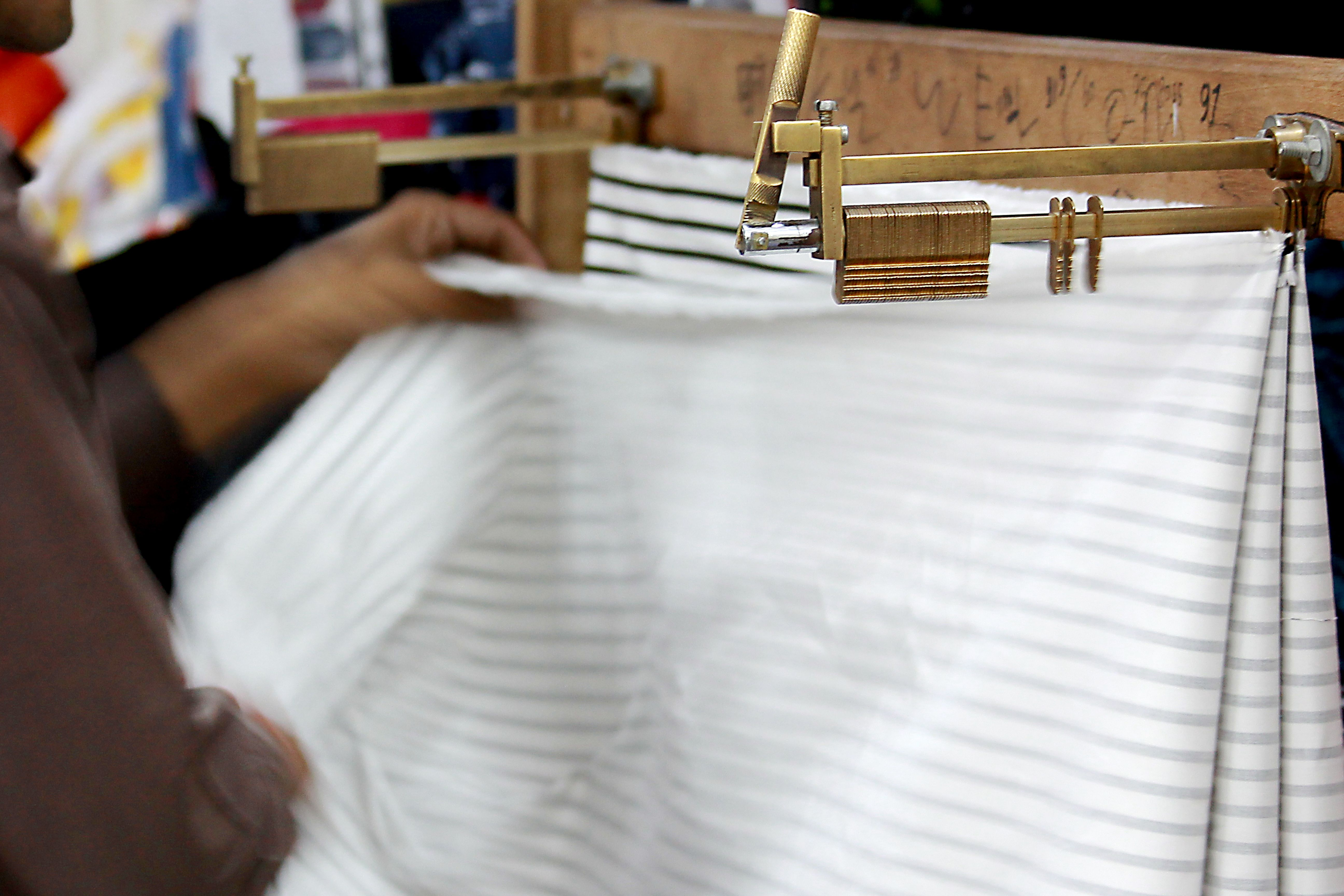 HOW WE DESIGN (PART 3) Step 1. The first step in Production is the issuing of fabric from the fabric store which requires a 'Requisition Slip' with the details, quantity and requirement of the fabric.