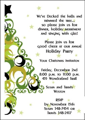 ensure your embellished Christmas holiday party invitations are - holiday party invitation