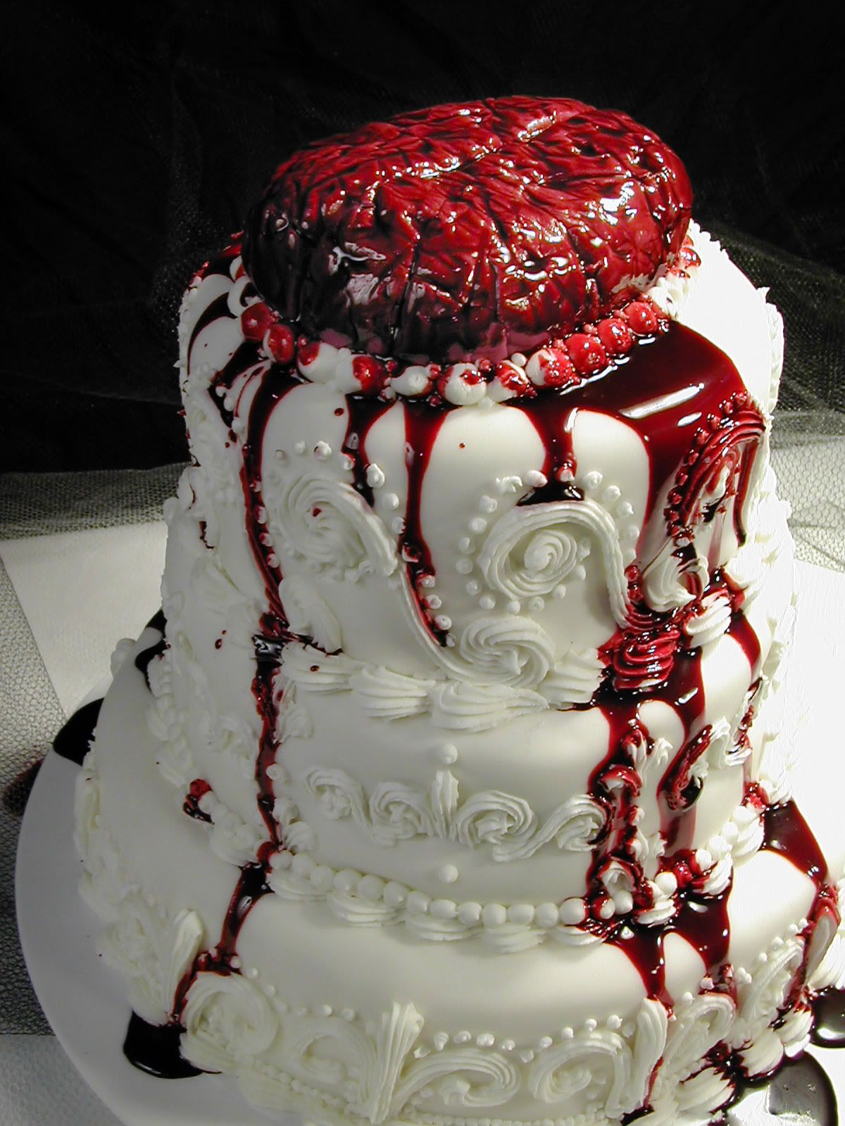 Mmmmm Zombie Wedding Cake Not Your Ordinary Cake Halloween