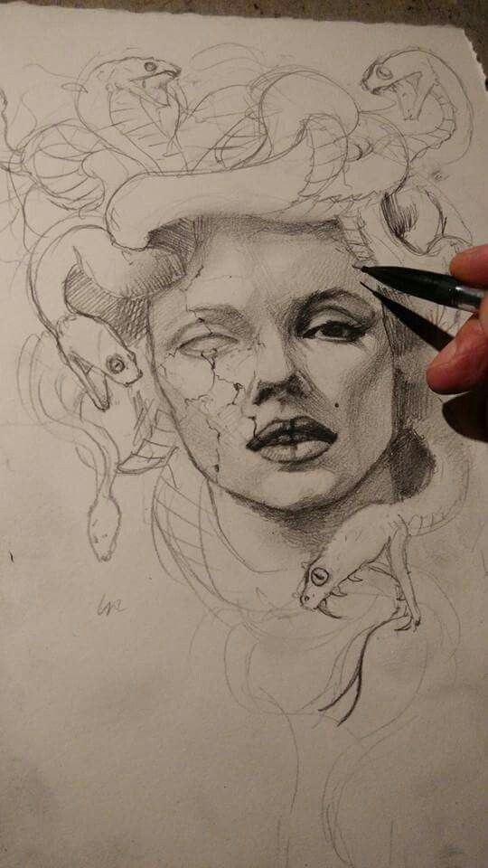 Pin By Noe Melchior On Drawings Medusa Tattoo Body Art
