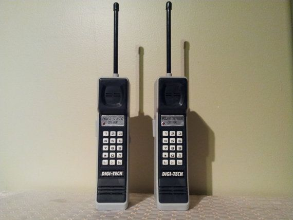 Vintage Brick Cell Phone Looking Walkie Talkies 80s 90s Prop Costume