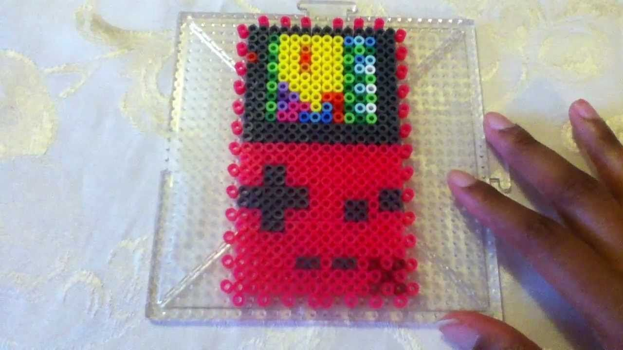 Nintendo game boy color youtube - 3d Perler Bead Gameboy Color Tutorial Youtube