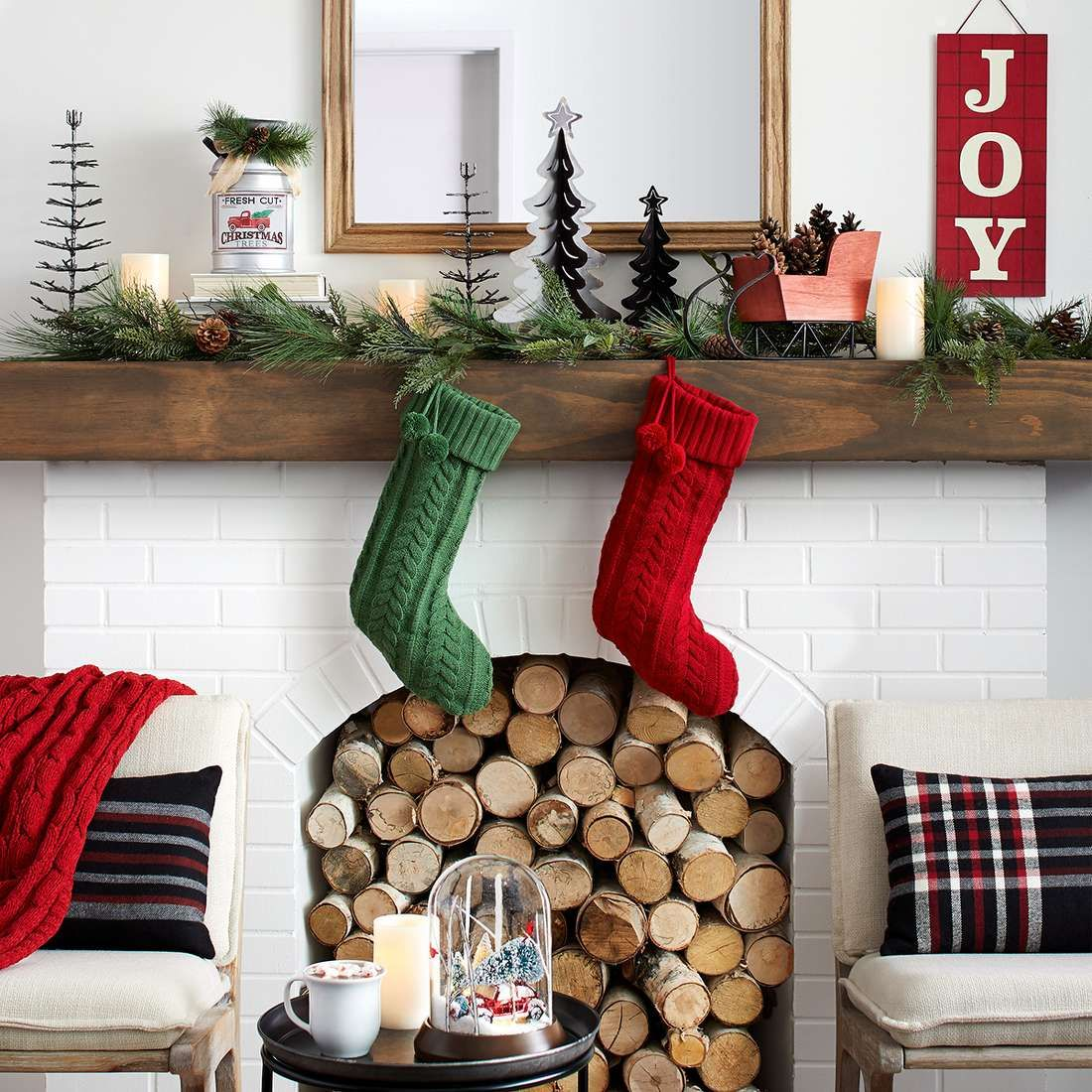 Shop Target For Christmas Decor And Gifts You Will Love At Great Low Prices Free Shipping Returns And Fr Holiday Decor Red Christmas Decor Christmas Mantels