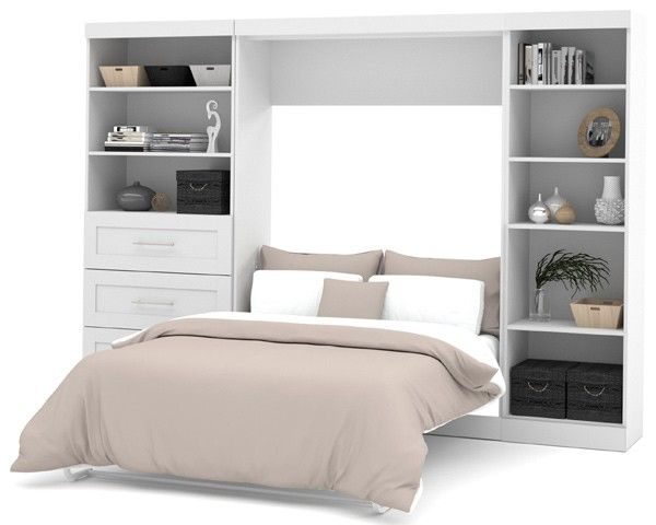 Bestar Pure White 120 Murphy Bed Plans Murphy Bed