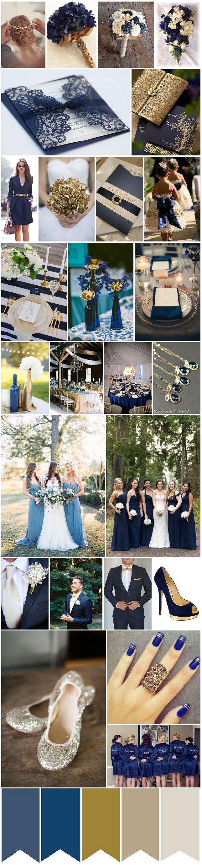 Blue and black wedding decor  Azul Dourado e OffWhite  Dj Wedding and Weddings