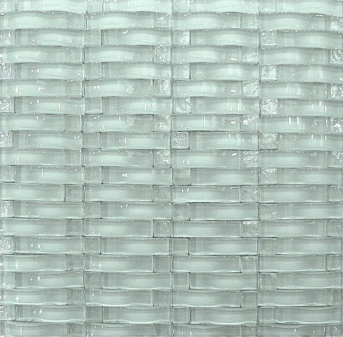Mineral Tiles Wave 3D Glass Tile White 2095 httpwww