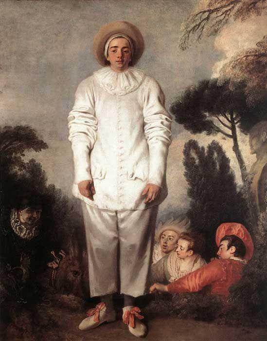 Gilles. De Watteau. Melancolía del payaso